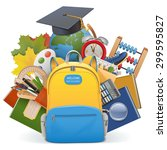 vector school concept with... | Shutterstock .eps vector #299595827