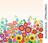 flowers background | Shutterstock .eps vector #299610863