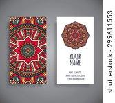 business card. vintage... | Shutterstock .eps vector #299611553