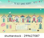 Beach Huts   Summer Poster And...