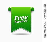free services green vector icon ... | Shutterstock .eps vector #299633333
