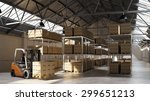 Forklift Carrying Pallet With...