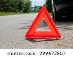 triangle on the road   Shutterstock . vector #299672807