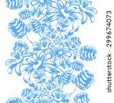 beautiful wallpaper seamless... | Shutterstock .eps vector #299674073