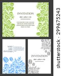 invitation with floral... | Shutterstock .eps vector #299675243