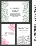 invitation with floral... | Shutterstock .eps vector #299675297