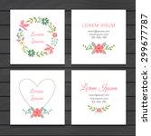 business card set. wedding... | Shutterstock .eps vector #299677787