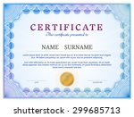 certificate template with...   Shutterstock .eps vector #299685713