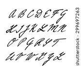 hand drawn vector alphabet ...   Shutterstock .eps vector #299697263