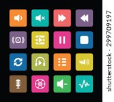 dj icons universal set for web... | Shutterstock .eps vector #299709197
