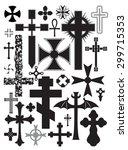 set of vector crosses | Shutterstock .eps vector #299715353