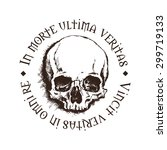 vector skull with a latin... | Shutterstock .eps vector #299719133