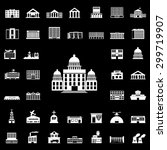 set of government building... | Shutterstock .eps vector #299719907