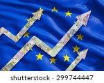 Growing Euro Notes Arrows Over...