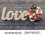 The Word Love With  Wedding...
