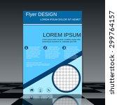 business flyer template.... | Shutterstock .eps vector #299764157