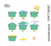 set  icons for instruction.... | Shutterstock . vector #299778587