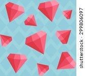 diamonds background pattern | Shutterstock .eps vector #299806097