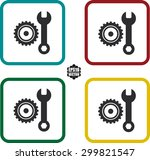 gears and settings icons set...