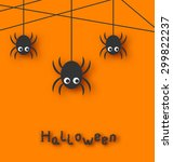 Illustration Cute Funny Spider...