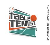 abstract vector logo for table... | Shutterstock .eps vector #299886743