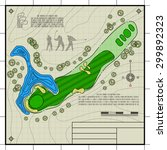 golf course layout. abstract... | Shutterstock .eps vector #299892323