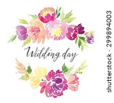 watercolor greeting card... | Shutterstock . vector #299894003