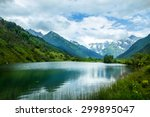 the tops of the mountains.... | Shutterstock . vector #299895047