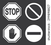 stop sign  set. vector... | Shutterstock .eps vector #299898827