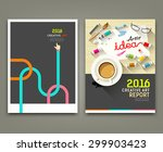 annual report 2016 cover desk... | Shutterstock .eps vector #299903423