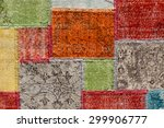 asian patchwork carpet in... | Shutterstock . vector #299906777