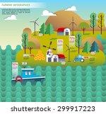 set of farm design element.... | Shutterstock .eps vector #299917223