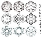 set of round ornaments. vector... | Shutterstock .eps vector #299921843