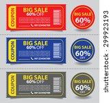 price tags design  vector... | Shutterstock .eps vector #299923193