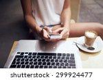 young women working in coffee... | Shutterstock . vector #299924477