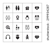 couple  love icons universal... | Shutterstock . vector #299934287