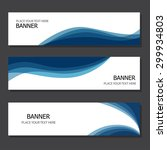 set of three banners | Shutterstock .eps vector #299934803
