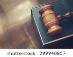 wooden judge  gavel and legal
