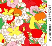 vector seamless pattern with... | Shutterstock .eps vector #299947097
