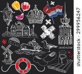 symbols of amsterdam in...   Shutterstock .eps vector #299956247