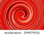 Abstract Of Red Spiral For...