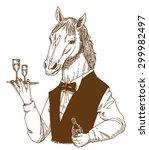 gentle horse | Shutterstock .eps vector #299982497
