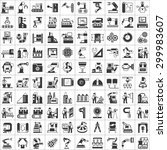vector set of manufacturing... | Shutterstock .eps vector #299983607