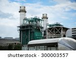gas combine cycle power plant. | Shutterstock . vector #300003557