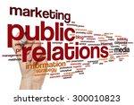 public relations word cloud...   Shutterstock . vector #300010823
