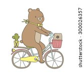 cute cartoon hand drawn... | Shutterstock .eps vector #300026357