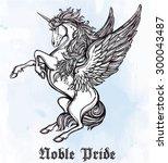 hand drawn vintage unicorn...