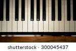 Top View Of  A Piano Keyboard...