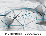 abstract 3d rendering of white... | Shutterstock . vector #300051983