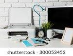 work office desk | Shutterstock . vector #300053453